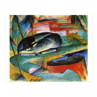 Sleeping Deer by Franz Marc Postcard