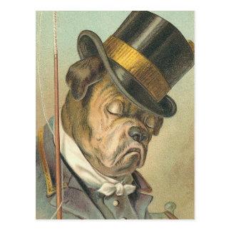 """""""Sleeping Dog"""" Vintage Illustration Postcard"""