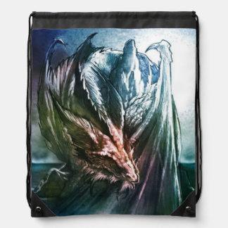 Sleeping dragon drawstring bag