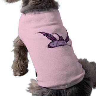 Sleeping Dragonette (Purple) Pet Apparel Dog T Shirt