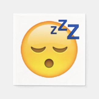 Sleeping - Emoji Napkin