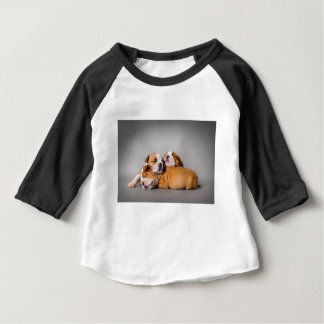 Sleeping English bulldog Baby T-Shirt