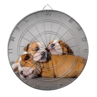 Sleeping English bulldog Dartboard