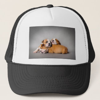 Sleeping English bulldog Trucker Hat