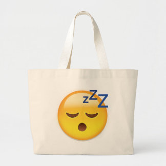 Sleeping Face Emoji Large Tote Bag