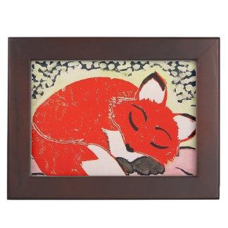 Sleeping Fox Keepsake Box