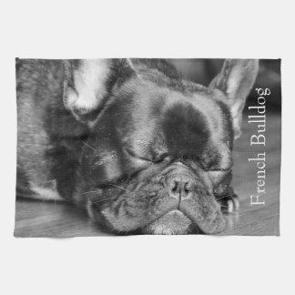 Sleeping French Bulldog Kitchen Towel