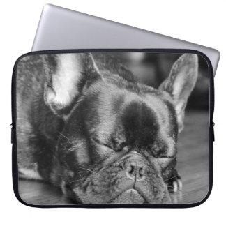 Sleeping French Bulldog Laptop Sleeve