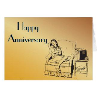 Sleeping Girl Anniversary Celebration Art Template
