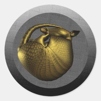 Sleeping Golden Armadillo Sticker