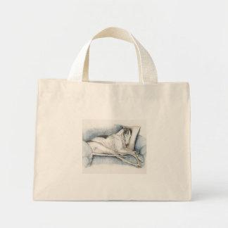 Sleeping Greyhound Dog Art Tote Bag