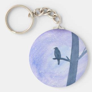 Sleeping Hawk Keychain