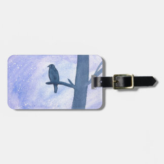 Sleeping Hawk Luggage Tag