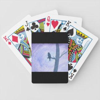 Sleeping Hawk Poker Deck