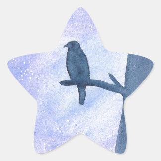 Sleeping Hawk Star Sticker