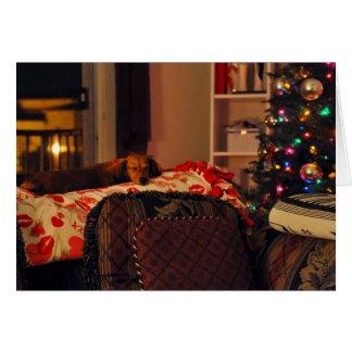 Sleeping Holiday Puppy Card