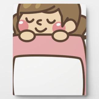 Sleeping in Bed Plaque