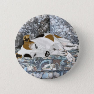 Sleeping Jack Russell 2 Inch Round Button