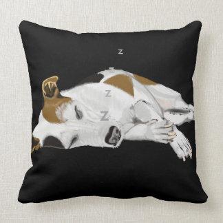Sleeping Jack Russell Throw Pillow