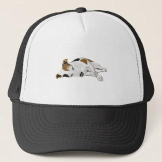 Sleeping Jack Russell Trucker Hat