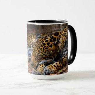 Sleeping Jaguar Coffee Mug by Julie Everhart