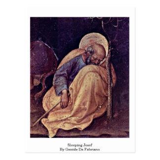 Sleeping Josef By Gentile Da Fabriano Postcard