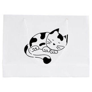 Sleeping Kitten Large Gift Bag