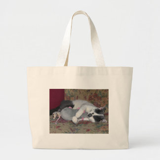 Sleeping Kitten Large Tote Bag