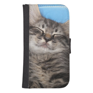 SLEEPING KITTEN WALLET PHONE CASE