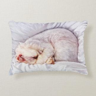 Sleeping Kitty Accent Pillow