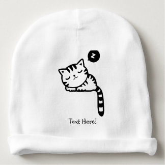 Sleeping Kitty Baby Beanie