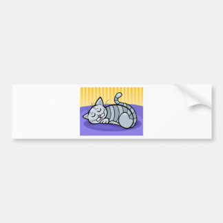 Sleeping Kitty Bumper Sticker