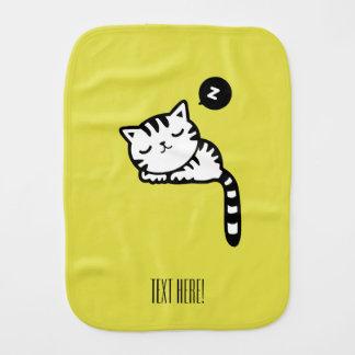 Sleeping Kitty Burp Cloth