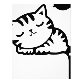 Sleeping Kitty Drawing Letterhead