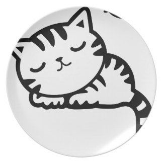 Sleeping Kitty Drawing Plate