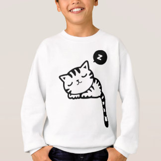 Sleeping Kitty Drawing Sweatshirt