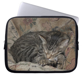 Sleeping Kitty laptop sleeve
