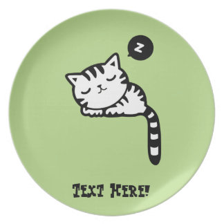 Sleeping Kitty Plate