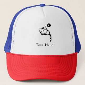 Sleeping Kitty Trucker Hat