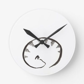 Sleeping Kitty Wallclock