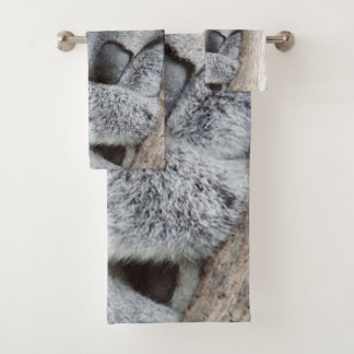 sleeping koala baby2 bath towel set