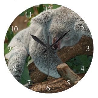 Sleeping Koala Bear Small Numbers Large Clock