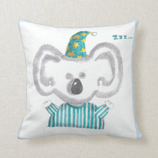 """Sleeping koala"" throw pillow"
