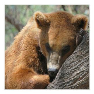 Sleeping Kodiak Bear Invitations