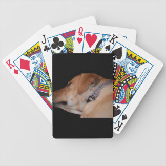 Sleeping Labrador Retriever Bicycle Playing Cards