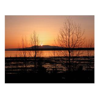 Sleeping Lady Sunset - Anchorage, Alaska Postcards