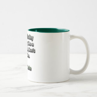 Sleeping like a baby? Two-Tone coffee mug
