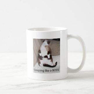 Sleeping like a Boss! Classic White Coffee Mug