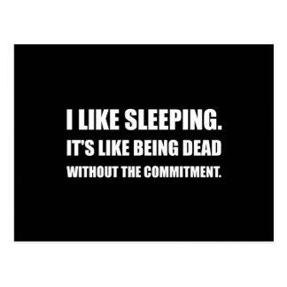 Sleeping Like Dead Commitment Postcard