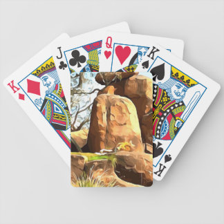 Sleeping Lion from Safari Bicycle Playing Cards